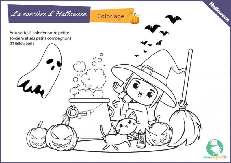 coloriage sorcier halloween