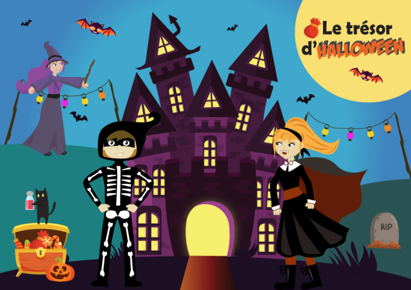 chasse aux tresors halloween