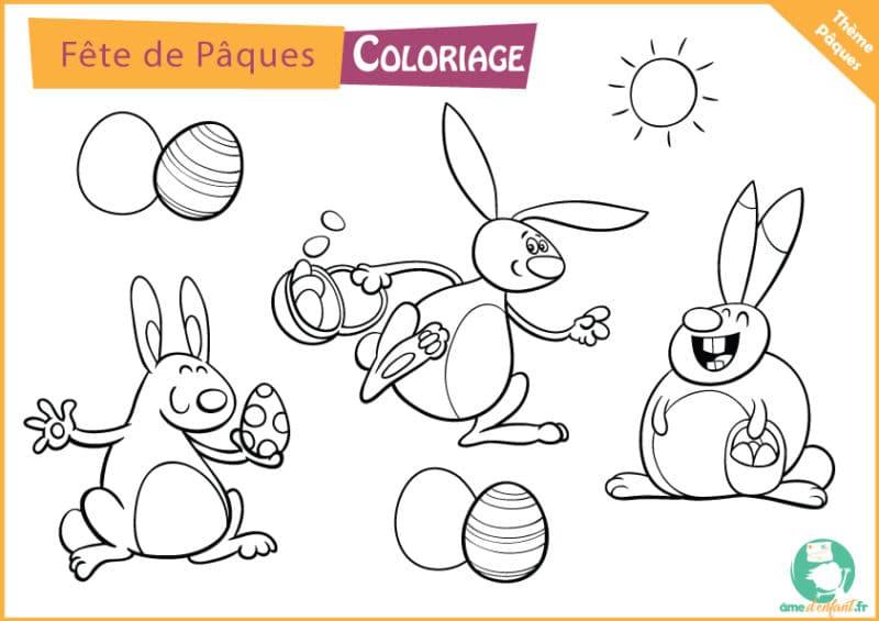 jeu de coloriage de paques gratuit a imprimer
