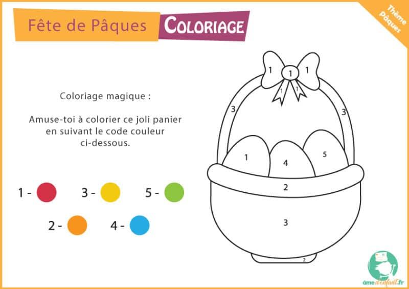 coloriage gratuit panier oeuf paques a imprimer