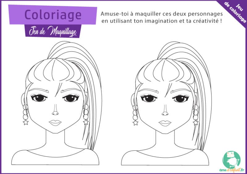 coloriage a imprimer maquillage