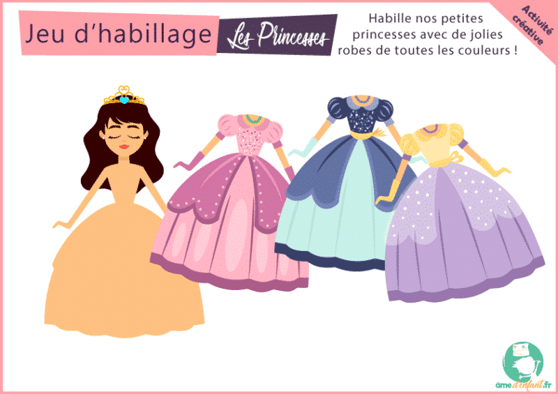 Jeu gratuit à imprimer princesse filles