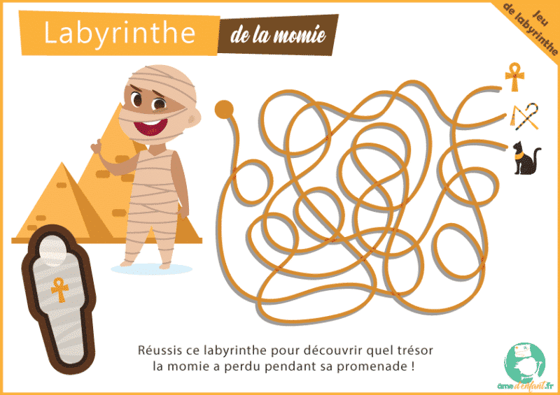 jeu de labyrinthe gratuit momie