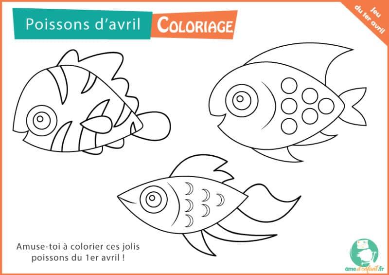 coloriage gratuit poisson 1er avril