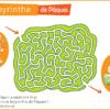 labyrinthe gratuit de paques a imprimer