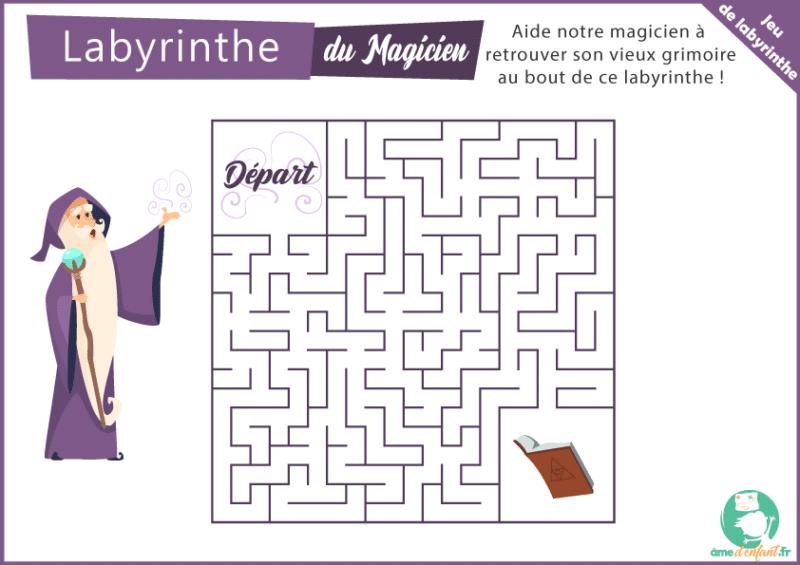 Jeu gratuit, labyrinthe pour enfants à imprimer