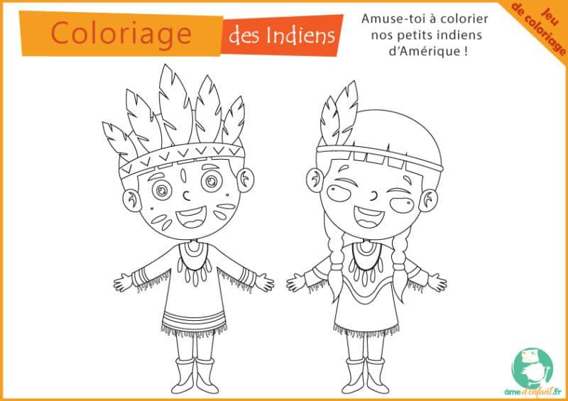 coloriage indien gratuit a imprimer
