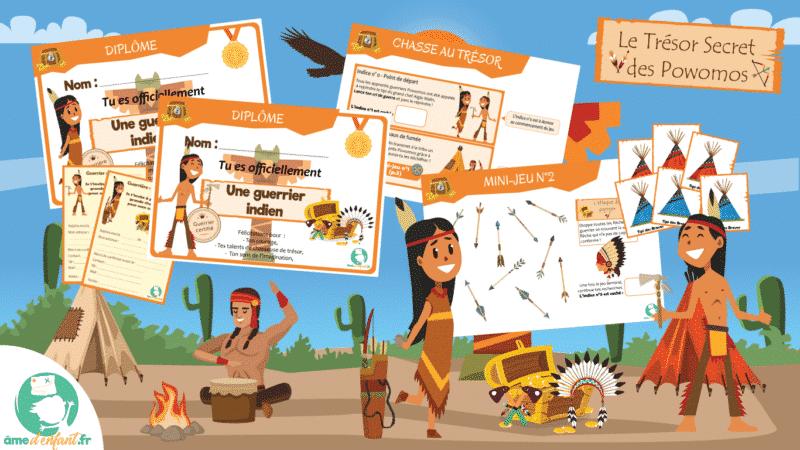 activite theme indiens pour les enfants