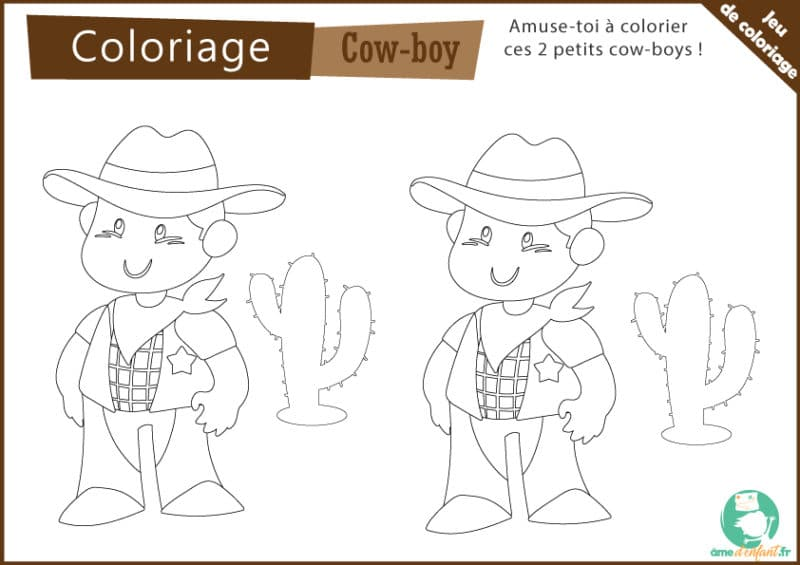 coloriage cow-boy gratuit