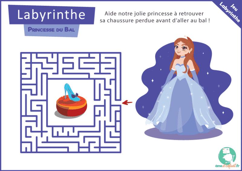 labyrinthe gratuit theme princesse