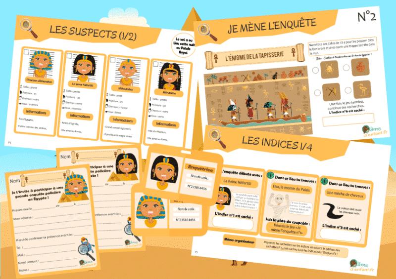 activite enigme enfant egypte