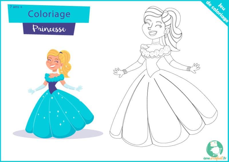 coloriage de princesse gratuit a imprimer