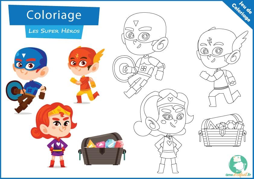 Coloriage De Super Heros