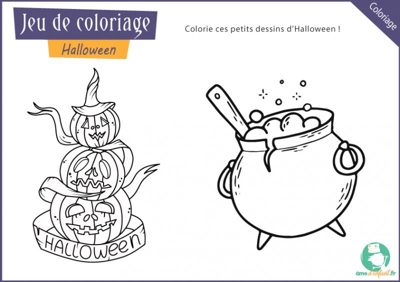 gratuit page coloriage halloween