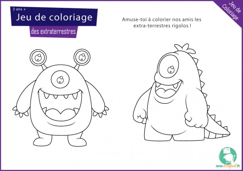 coloriage monstre espace gratuit
