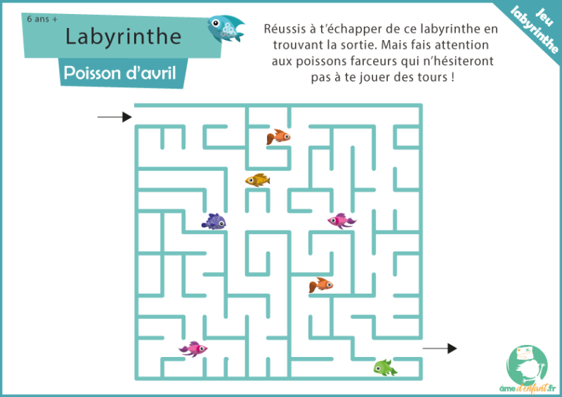 jeu theme poisson d'avril