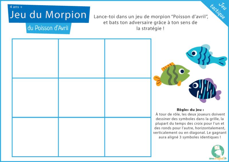 activite poisson avril enfant a imprimer