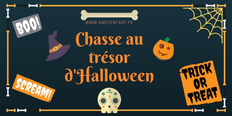 organiser une chasse au trésor d'Halloween