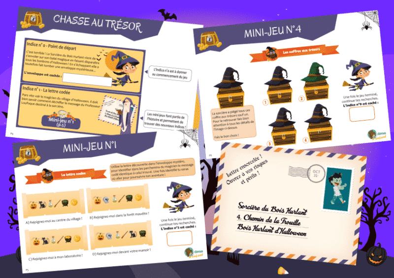 kit chasse aux tresors halloween
