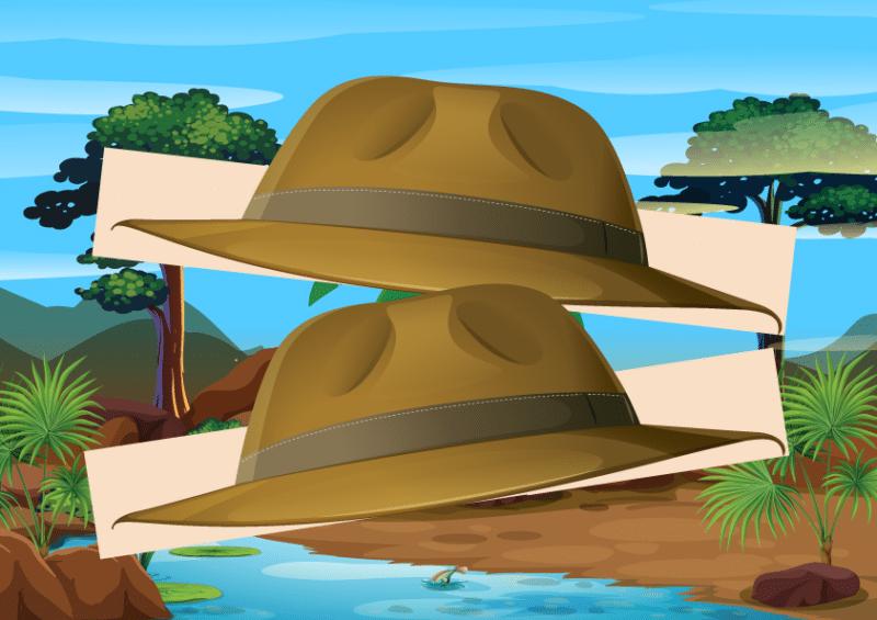 chapeau aventurier a imprimer