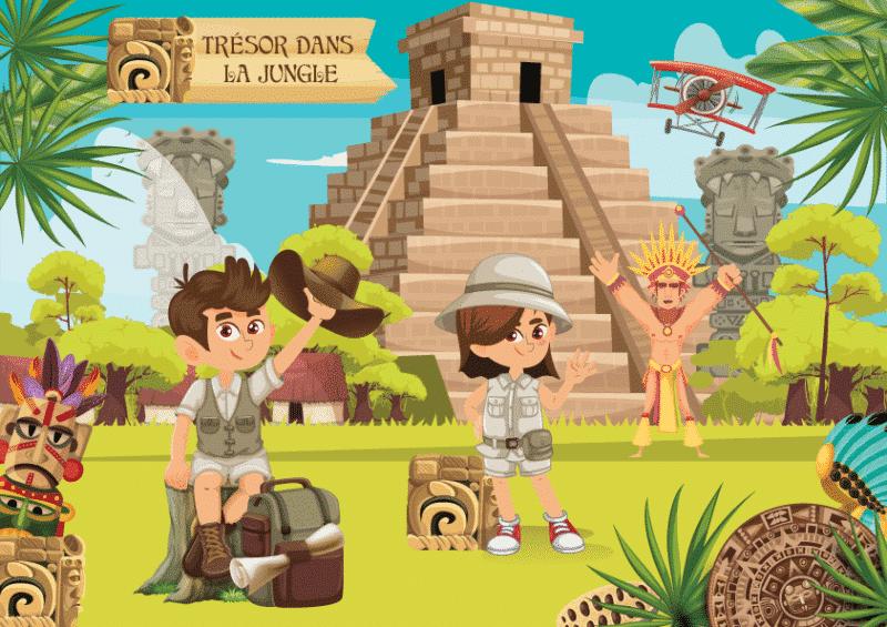 chasse au tresor pour enfants explorateurs