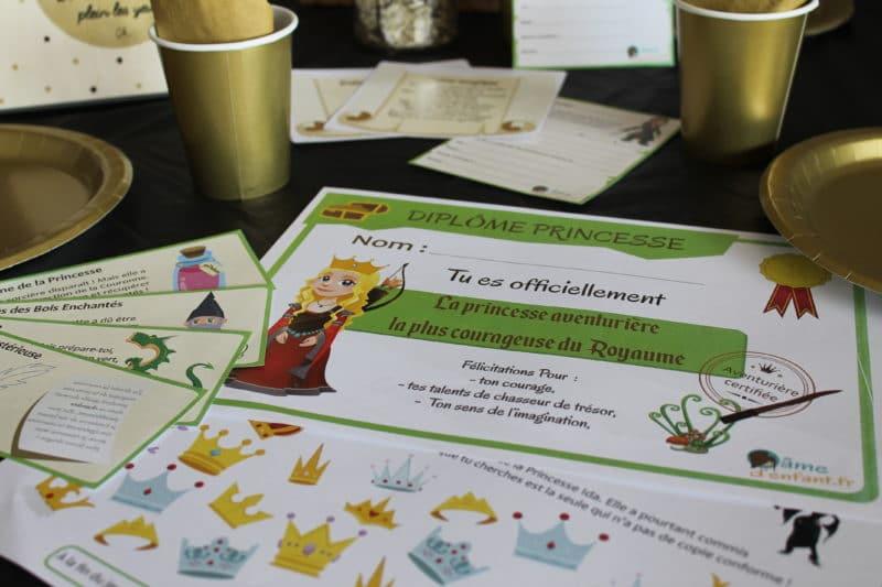 jeu animation contes de fees a imprimer
