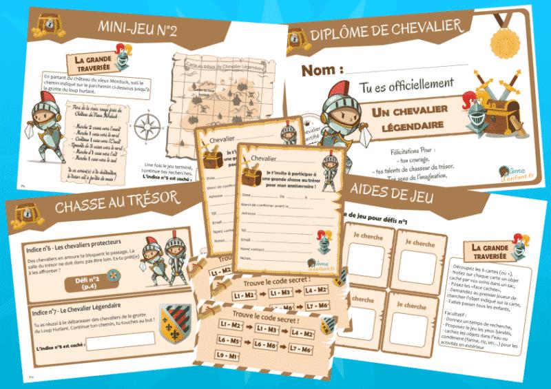 kit jeu activite enfant chevalier