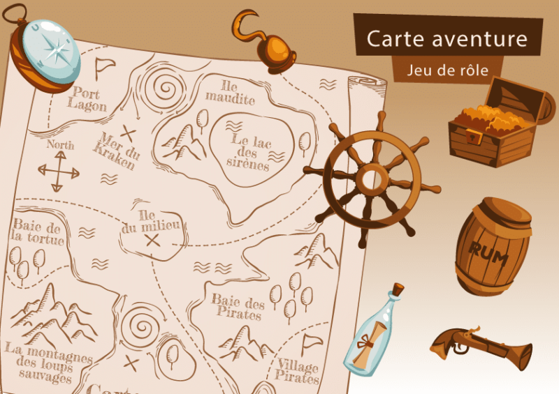 carte jeu de role