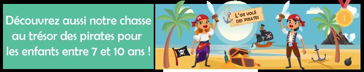 chasse au tresor pirate