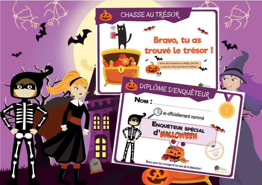 invitation halloween a imprimer