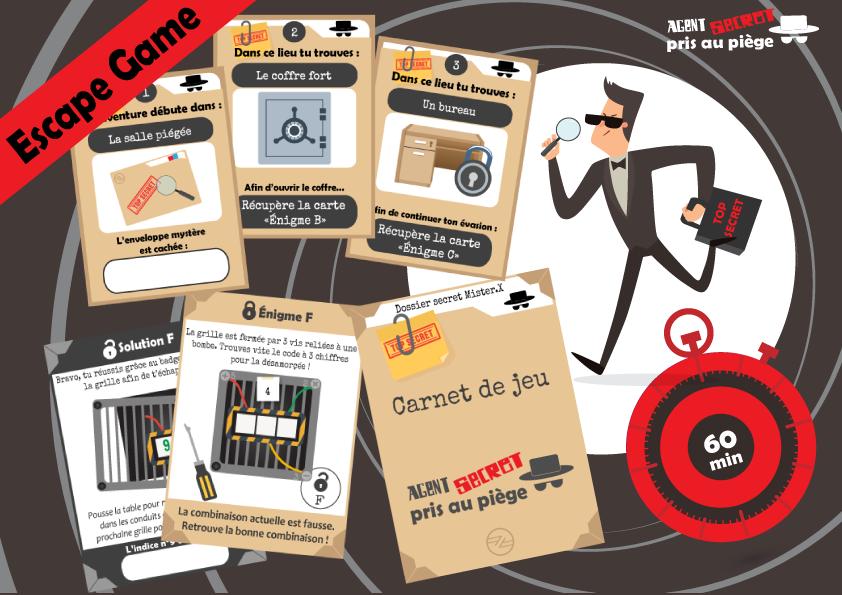 classic popular brand really cheap Escape game - Agent secret pris au piège (10/12 ans)