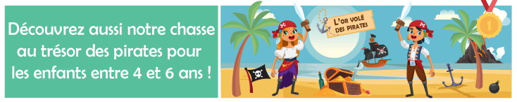 chasse au tresor pirates 5 ans