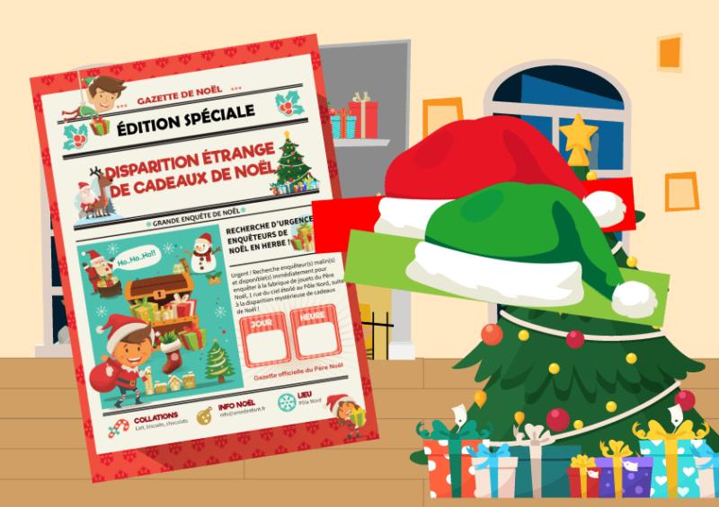 jeu d'énigme de Noël pour enfants