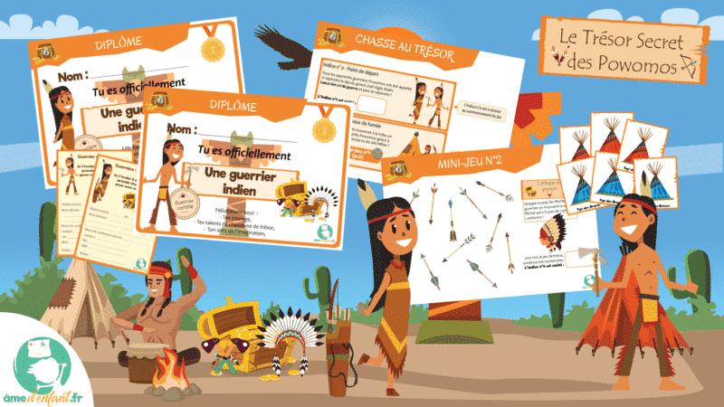 activite chasse au trésor indiens pour enfants