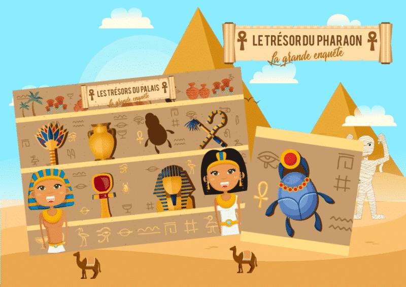 jeu acticite pharaon enfant