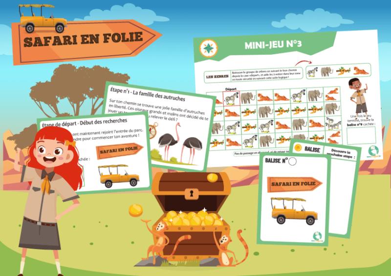 jeu animaux jungle activite enfant a imprimer