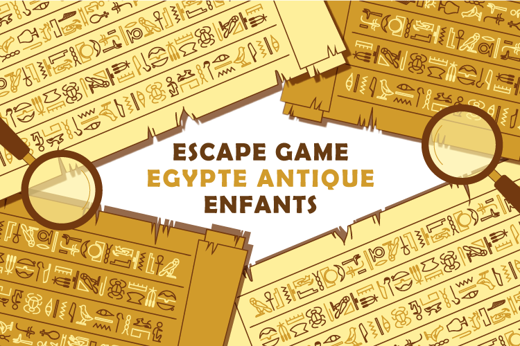 kit escape room egypte enfant