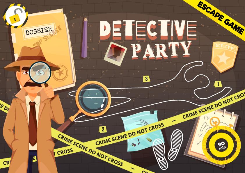 detective party escape room enfant