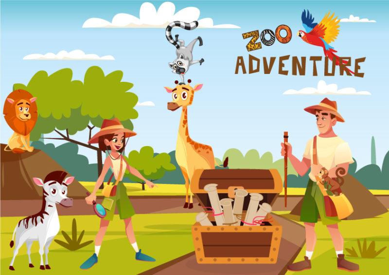 chasse au tresor animaux du zoo