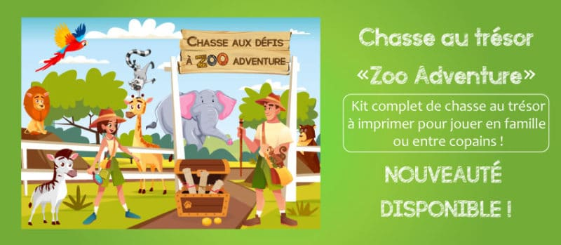 chasse aux tresors animaux zoo