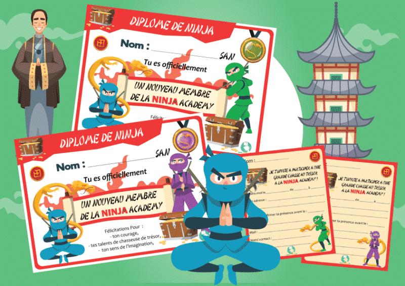 kit de jeu ninja a imprimer