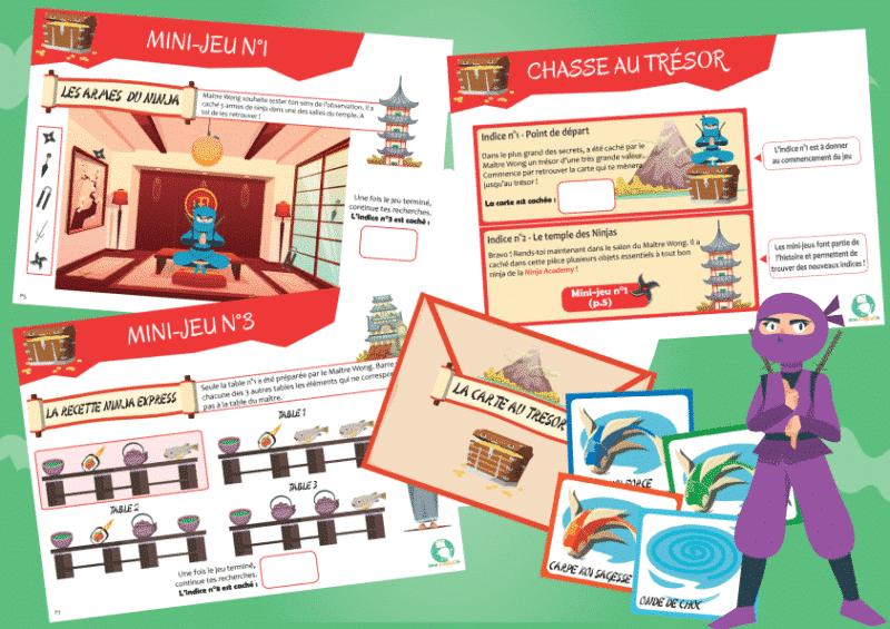 jeu anniversaire enfant theme ninja 4 ans