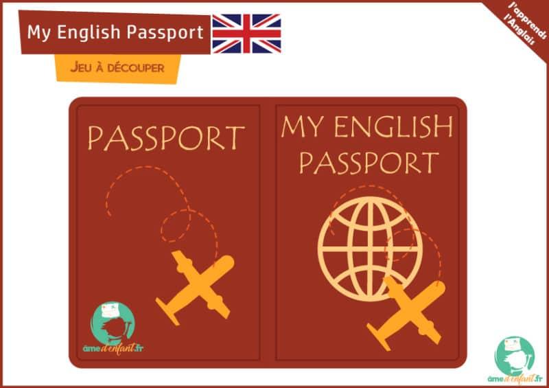 Jeux anglais pour enfants - My english passport