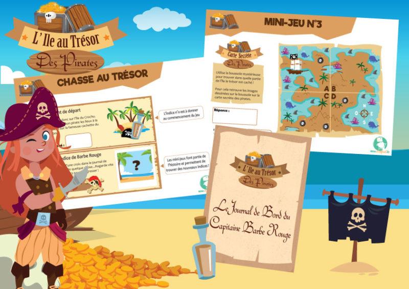 activité sur le theme des pirates a imprimer