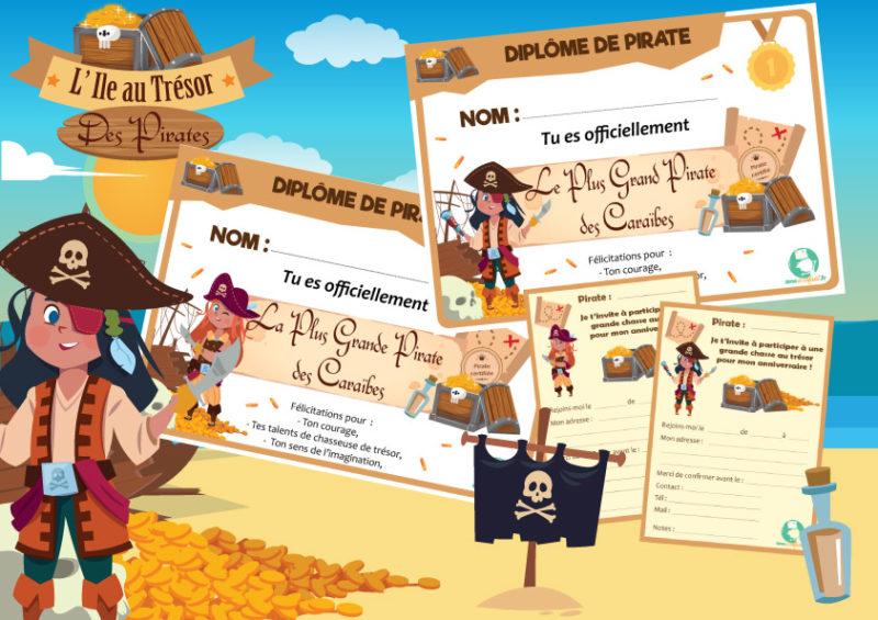 chasse au tresor sur le theme des pirates 4 ans