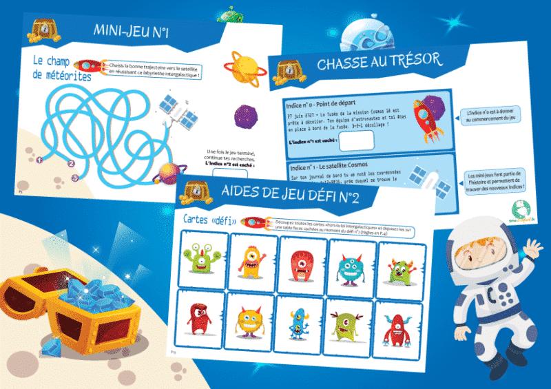 activite sur le theme de l'espace pour enfants