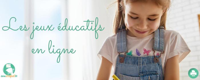 jeu educatif sur le net pour les enfants