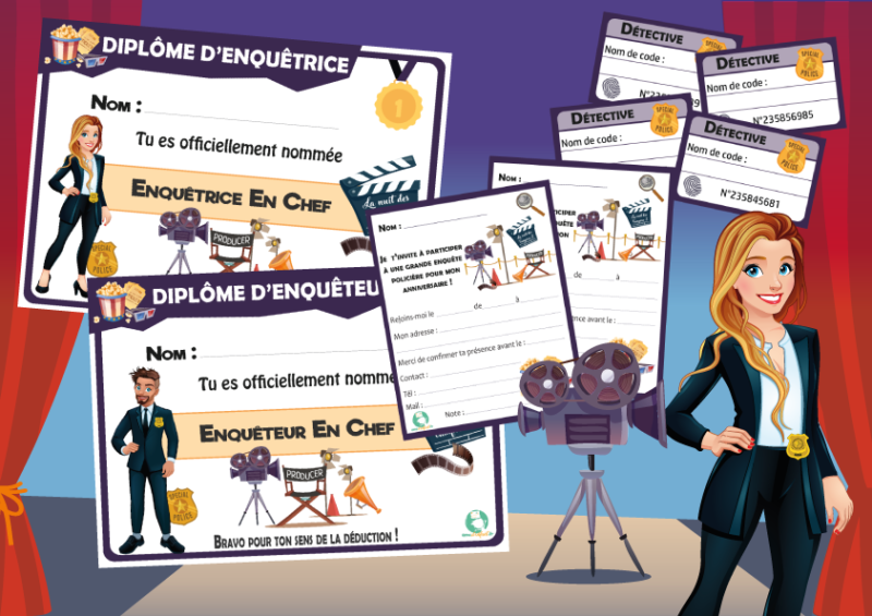 enigme theme cinema activite enfant