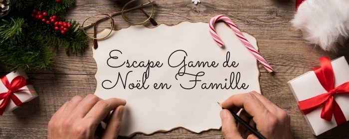 escape room de noel en famille
