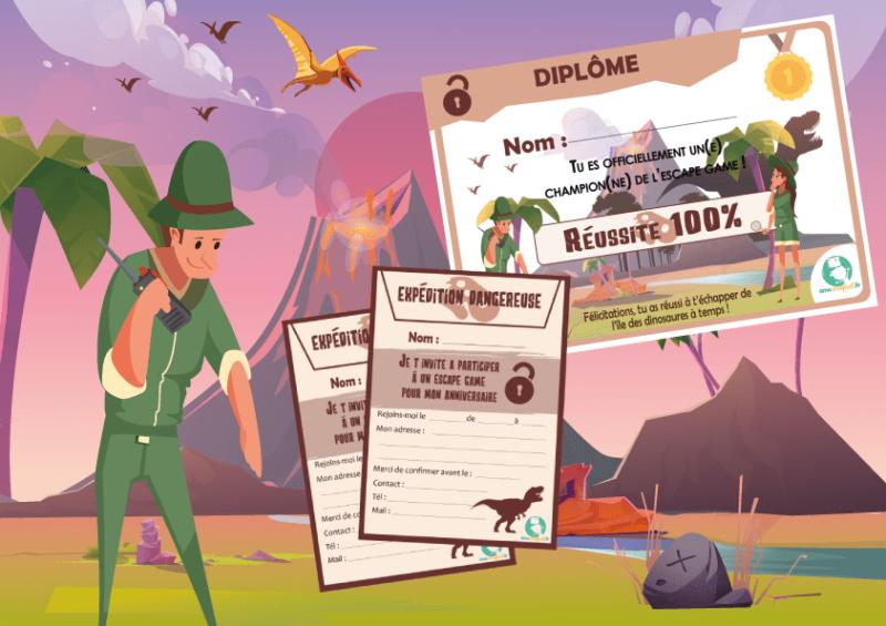 jeu exploration dinosaure pour enfant